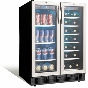 """DBC2760BLS Danby Silhouette Emmental 24"""" Dual Zone Beverage Center with 2 Doors - Stainless Steel"""
