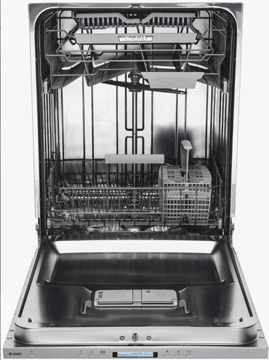 "DBI663THS Asko 24"" 30 Series Built-In Dishwasher with Tubular Handle and 8 Spray Wash System - Stainless Steel"