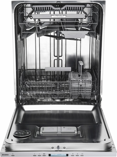 "DBI664THXXLS Asko 24"" 40 Series Built-In Dishwasher with Tubular Handle and 9 Spray Wash System - Stainless Steel"