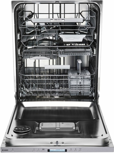 """DBI675THXXLS Asko 24"""" 50 Series Built-In Dishwasher with Tubular Handle and 9 Spray Wash System - Stainless Steel"""
