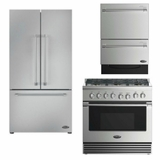Package DCS2 - DCS Appliance Package - 3 Piece Appliance Package with Gas Range - Stainless Steel