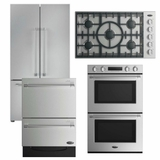 Package DCS4 - DCS Appliance Package - 4 Piece Appliance Package with Gas Cooktop- Stainless Steel