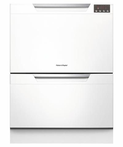 DD24DAW8 Fisher & Paykel Double DishDrawer with SmartDrive Wash Function - White