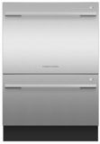 "DD24DDFTX9N Fisher & Paykel 24"" DishDrawer Double Dishwasher with Smart Drive and Nine Wash Options - Stainless Steel"