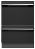 DD24DHTI7 Fisher & Paykel Tall Integrated Double DishDrawer with Water Softener - Custom Panel