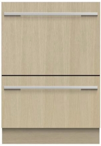 """DD24DHTi9N Fisher & Paykel 24"""" Panel Ready DishDrawer Tall Double Dishwasher with Smart Drive and Nine Wash Options - Custom Panel"""