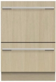 "DD24DHTi9N Fisher & Paykel 24"" Panel Ready DishDrawer Tall Double Dishwasher with Smart Drive and Nine Wash Options - Custom Panel"