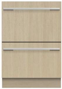 "DD24DI9N Fisher & Paykel 24"" Panel Ready DishDrawer Double Dishwasher with SmartDrive and Nine Wash Options - Custom Panel"