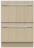 "DD24Di9N Fisher & Paykel 24"" Panel Ready DishDrawer Double Dishwasher with SmartDrive and Nine Wash Options - Stainless Steel"