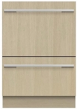 "DD24DTi9N Fisher & Paykel 24"" Panel Ready DishDrawer Tall Double Dishwasher with Smart Drive and Nine Wash Options - Custom Panel"