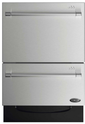 "DD24DV2T7 DCS 24"" Double Dishdrawer with SmartDrive Technology - Stainless Steel"