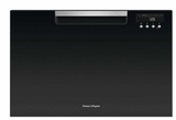 "DD24SAB9N 24"" Fisher & Paykel Full Console Single Drawer Dishwasher with Quick Wash and Cutlery Basket - Black"