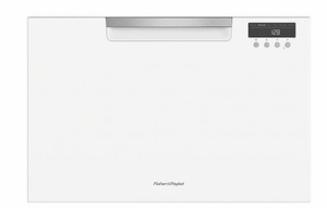 "DD24SAW9N 24"" Fisher & Paykel Full Console Single Drawer Dishwasher with Quick Wash and Cutlery Basket - White"