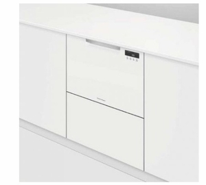 """DD24SAW9N 24"""" Fisher & Paykel Full Console Single Drawer Dishwasher with Quick Wash and Cutlery Basket - White"""