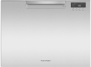 "DD24SCHTX9 24"" Fisher & Paykel Full Console Single Tall Drawer Dishwasher with Child Lock, 2 Cutlery Basket and Built-In Water Softner  - Stainless Steel"