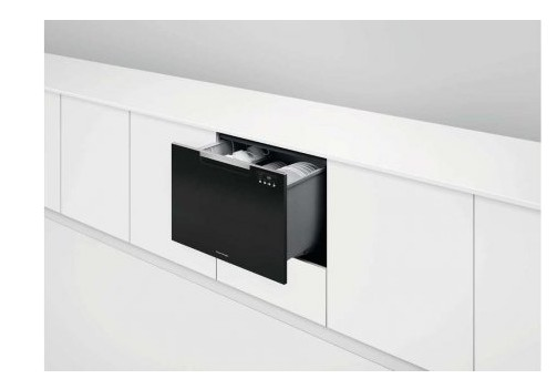 "DD24SCTB9N 24"" Fisher & Paykel Full Console Single Tall Drawer Dishwasher with Child Lock and 2 Cutlery Basket - Black"