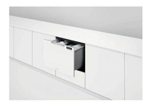 "DD24SCTW9 24"" Fisher & Paykel Full Console Single Tall Drawer Dishwasher with Child Lock and 2 Cutlery Basket - White"