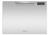"DD24SCTX9N 24"" Fisher & Paykel Full Console Single Tall Drawer Dishwasher with Child Lock and 2 Cutlery Basket - Stainless Steel"