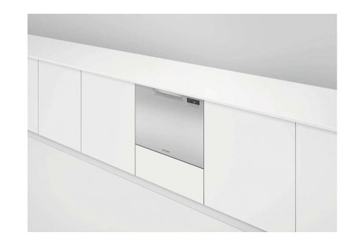 """DD24SCTX9 24"""" Fisher & Paykel Full Console Single Tall Drawer Dishwasher with Child Lock and 2 Cutlery Basket - Stainless Steel"""