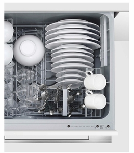 """DD24STi9N Fisher & Paykel 24"""" Single DishDrawer with Quick Sanitize and Extra Dry Options - Panel Ready"""