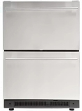 "DD410RS Haier 24"" Built-In 14.9 Cu. Ft. Dual Drawer Refrigerator with LED Lighting and Adjustable Drawer - Stainless Steel"