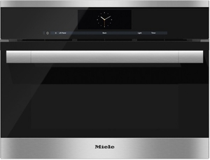 "DGC6705-1XL Miele Combi-Steam Single 24"" Wide Plumbed Oven with MutliSteam Technology - Stainless Steel"