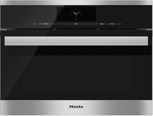 "DGC6805-1XL Miele Combi-Steam Single 24"" Wide Plumbed Oven with MutliSteam Technology - Stainless Steel"