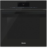 """DGC6860XXLLBL Miele 24"""" Steam Combination Oven with Motorized Control Panel and XXL Cavity  - Obsidian Black"""