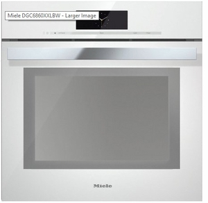 "DGC6865XXLWH Miele 24"" Steam Combination Oven with Motorized Control Panel and XXL Cavity - Brilliant White"