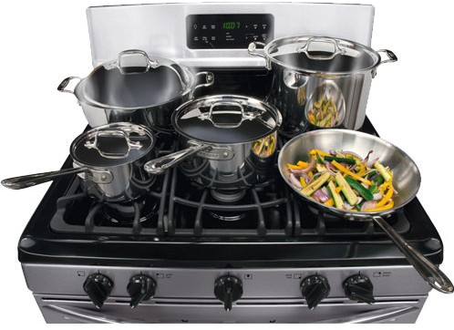 dggf3042kf frigidaire gallery series gas range with black porcelain cooktop stainless steel - Frigidaire Gallery Gas Range
