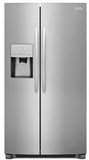 "DGHX2355TF Frigidaire 33"" Gallery Series 22.2 Cu. Ft Standard Depth Side by Side Refrigerator with Pure Air Ultra Filters and Store More Glass Shelves - Smudge Proof Stainless Steel"