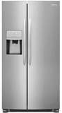 """DGHX2655TF Frigidaire 36"""" Gallery Series 25.5 Cu. Ft Standard Depth Side by Side Refrigerator with Pure Air Ultra Filters and Store More Glass Shelves - Smudge-Proof Stainless Steel"""
