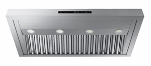 """DHD48M987WS Dacor 48"""" Contemporary Wall Mount Hood With Heat Sensor and 4 Speed Fan - Stainless Steel"""