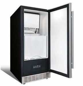"""DIM32D1BSSPR Danby Silhouette Professional Mosel 15"""" Built-In Ice Maker with 3 Sizes of Cube Settings - Stainless Steel"""