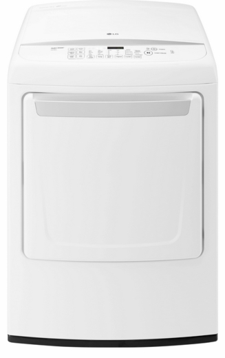 DLE1501W LG 7.3 Cu. Ultra Large Front  Control Dryer with Sensor Dry - White
