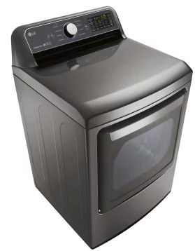 "DLE7200VE LG 27"" 7.3 cu.ft. Super Capacity Electric Dryer with Sensor Dry Technology and EasyLoad Door - Graphite Steel"