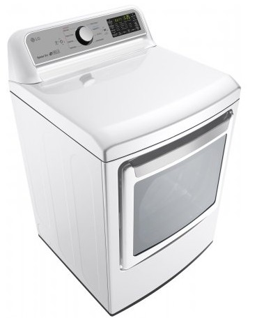"DLE7200WE LG 27"" 7.3 cu.ft. Super Capacity Electric Dryer with Sensor Dry Technology and EasyLoad Door - White"
