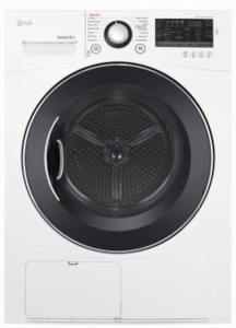 "DLEC888W LG 24"" 4.2 cu.ft Compact Electric Condensing Dryer with NFC Tag On and 14 Dryer Programs - White"
