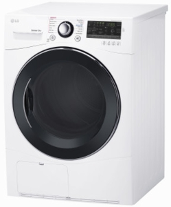 "DLEC888W LG 24"" 4.2 cu.ft Compact Electric Condensing Dryer with Smart ThinQ Technology and 14 Dryer Programs - White"