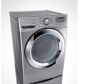 DLEX3370V LG 7.4 Cu. Ft. Ultra Large Capacity Steam Electric Dryer with NFC Tag On Technology - Graphite Steel