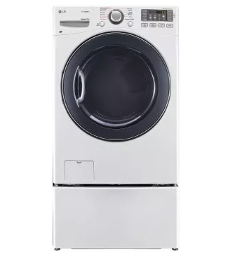 DLEX3570W LG 7.4 cu. ft. Electric Steam Dryer - White