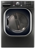 "DLEX4370K LG 27"" 4.5 cu. ft. Ultra Large High Efficiency Electric SteamDryer with SteamSanitary - Black Stainless Steel"