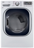 "DLEX4370W LG 27"" 4.5 cu. ft. Ultra Large High Efficiency Electric SteamDryer with SteamSanitary - White"