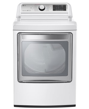 "DLEX7600WE LG 27"" 7.3 Cu. Ft. Ultra Large Capacity High Efficiency Electric Steam Dryer with EasyLoad Door - White"