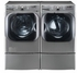 "DLEX8100V LG 29"" 9.0 Cu. Ft. Mega Capacity Electric Steam Dryer with Sensor Dry - Graphite Steel"