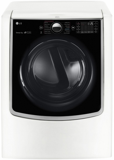 DLEX9000W LG 9.0 cu.ft. MEGA Capacity TurboSteam Dryer w/ On-Door Control Panel - White