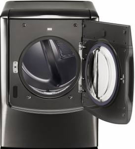 "DLEX9500K LG Signature 29"" 9.0 cu. ft. Electric Dryer with 14 Drying Programs and TurboSteam - Black Stainless Steel"