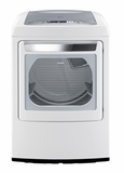 DLEY1201W LG 7.3 cu. ft. Ultra Large Capacity Electric Dryer with Front Control Design and SteamFresh Cycle - White - CLEARANCE