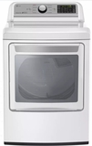 "DLG7201WE LG 27"" 7.3 cu.ft. Super Capacity Gas Dryer with Sensor Dry Technology and EasyLoad Door - White"