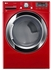 DLGX3371R LG 7.4 Cu. Ft. Ultra Large Capacity Gas SteamDryer with Stainless Drum - Wild Cherry Red